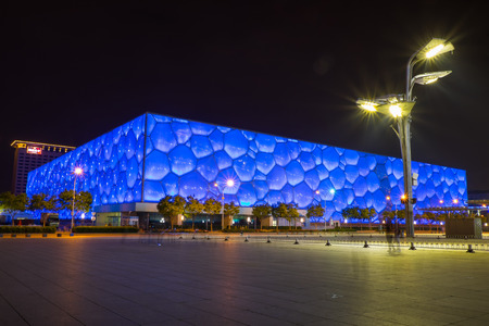 Beijing aquatic center officially known as the National Aquatics Center