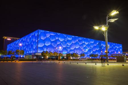 piscina olimpica: Centro acuático Beijing conocido oficialmente como el Centro Acuático Nacional Editorial