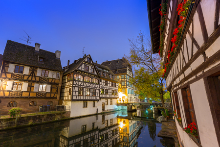 historical reflections: Strasbourg at Dusk,France