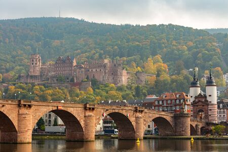 heidelberg: Old bridge and heidelberg castle ,Germany