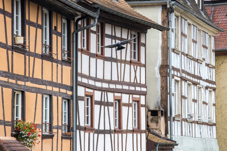 fachwerk: Traditional timbered house in petite france,Strasbourg,Alsace,France