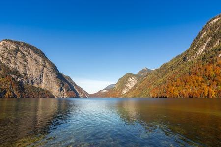 berchtesgaden: Konigssee lake Berchtesgaden,Germany Stock Photo