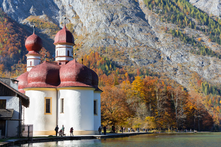 berchtesgaden: St Bartholomews Church Berchtesgaden,Germany Stock Photo