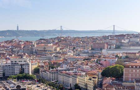 Lisbon city panorama skyline ,Portugal Stock Photo