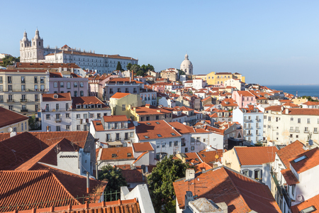 Lisbon skyline from alfama