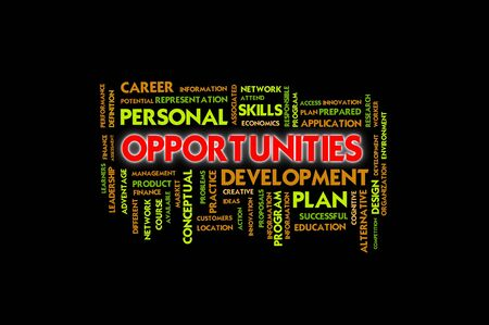 Business wording concept, opportunities photo
