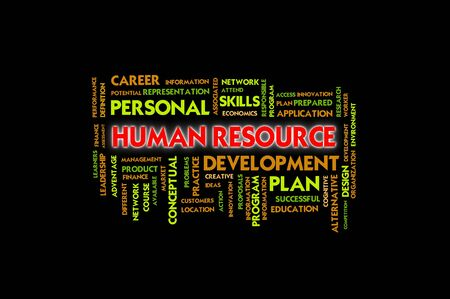 instances: Business wording concept,human resource Stock Photo