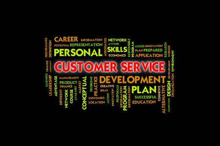 Business wording concept, customer service Stock Photo - 10430118