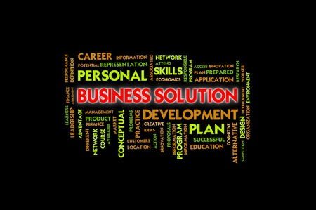 instances: Business wording concept, business solution Stock Photo