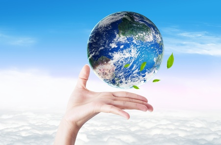 Earth illustration for green eco concept