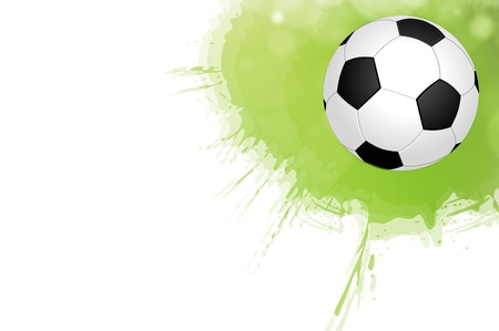 shootout: Soccer ball on a white background Stock Photo