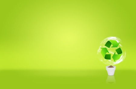 Recycle sign for green eco concept photo