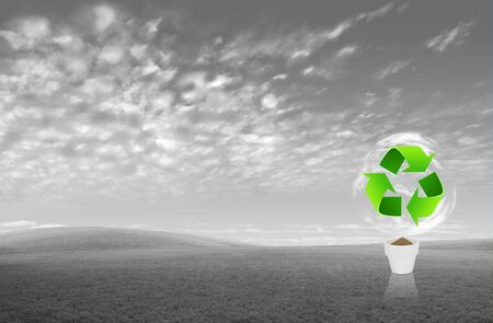 global environment: Recycle sign for green eco concept