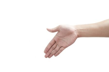 hand prepare for shakehand to each other Stock Photo - 10473262