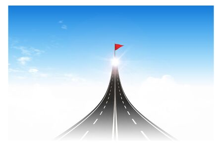 Road to the flag target for business concept photo