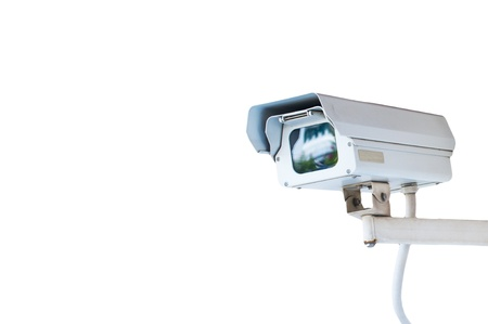 electric system: Security Camera or CCTV isolated on white background