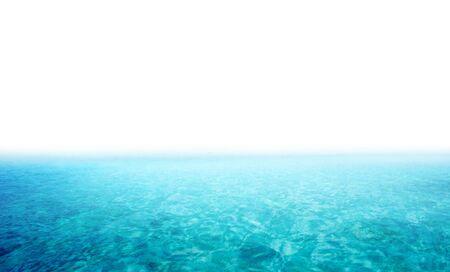 rippled: Beautiful seascape isolated on white background Stock Photo