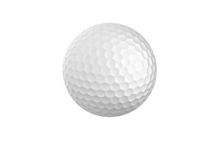 golfball: Golf ball isolated on white background