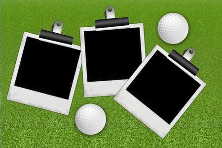 Marco para foto con el fondo de golf el deporte Foto de archivo - 10490330