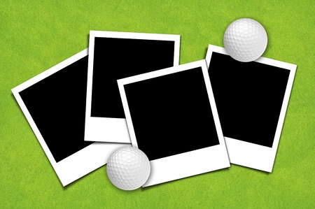 Picture frame with golf sport background Stock Photo - 10490360