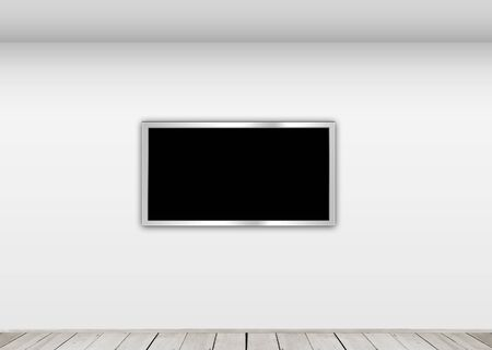 Gallery hall with frame template Stock Photo - 10489315