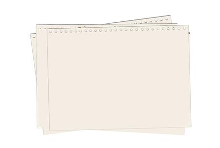scribbling: Note paper