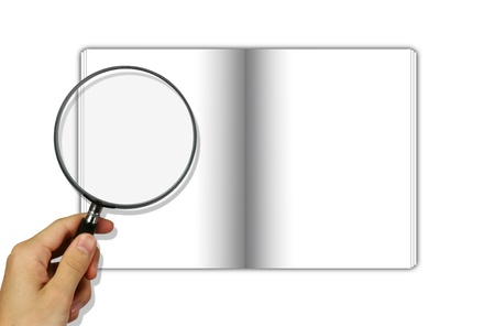 a book with magnifier  Stock Photo - 10504087
