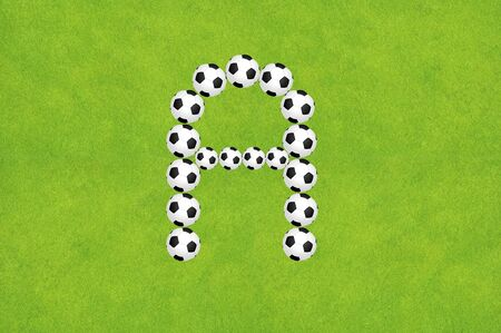 Soccer alphabet A Stock Photo - 10504434
