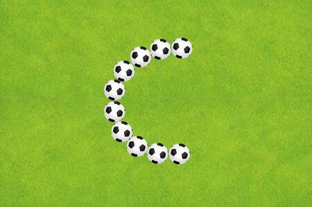 Soccer alphabet A Stock Photo - 10504446