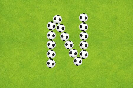 alphabet wallpaper: Soccer alphabet A