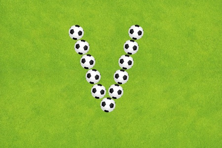Soccer alphabet A photo