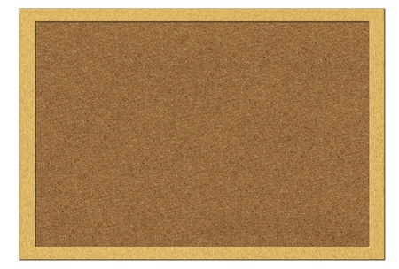 Empty office cork notice board isolated with wood frame Stock Photo