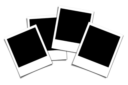 photo frame on an isolated white background photo
