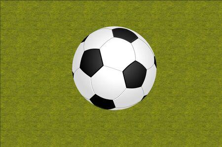 corner kick: Soccer ball on a white background Stock Photo