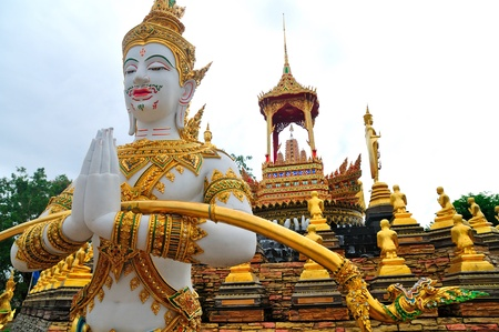 Thailand Sculpture illustrating Ramayana photo