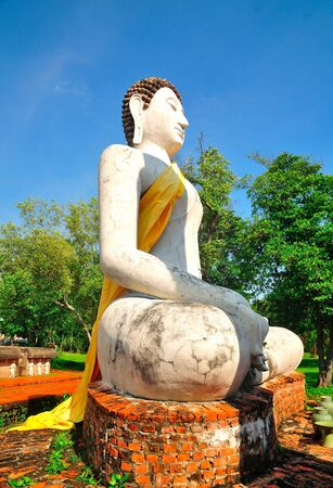 Image of Buddha Ayudthaya style at historic park photo