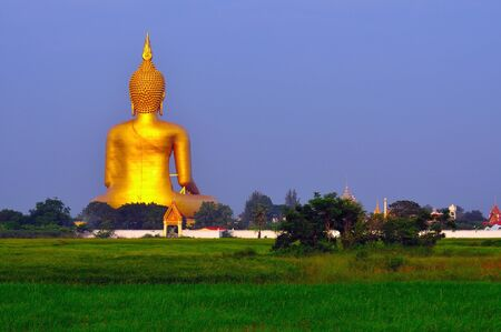 Image of behind big Buddha at angtong photo