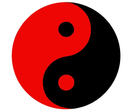Ying Yang symbol of harmony and balance  Stock Photo