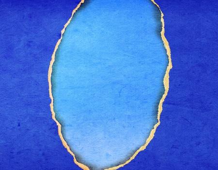 Blue tear texture paper photo