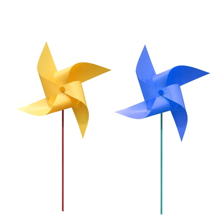 pinwheel toy: Windmill colors and pinwheel  Stock Photo