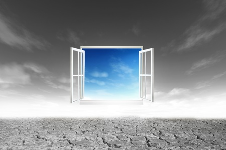 Window open to the new world, for environmental concept and idea Stock Photo - 10785502