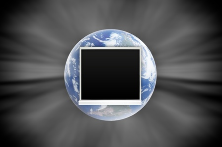 Window open on earth surface to the inside world, for environmental concept and idea Stock Photo - 10785410