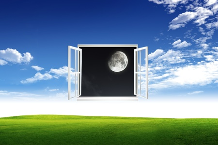 Window open to the new world, for environmental concept and idea Stock Photo - 10785471