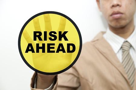 instances: Concetto di business man e rischio gestione