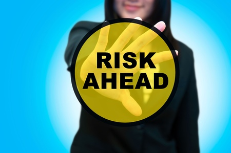 risk taking: Busines woman and risk management concept
