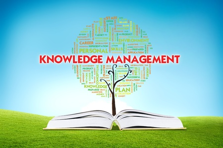Book AND GROWING word cloud TREE for business concept, education photo