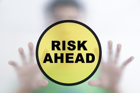 taking a risk: Man and risk management concept Stock Photo