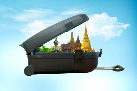 travel background: Travel concept, bangkok THAILAND