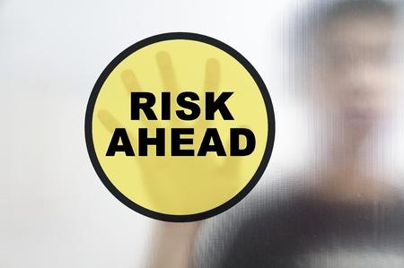busines: Busines man and risk management concept Stock Photo