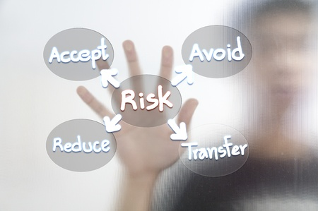 Busines man and risk management concept Stock Photo - 11568585